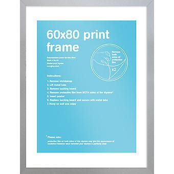 Eton Silver frame 60x80cm Poster / Print Frame