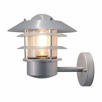 1 Light Outdoor Wall Lantern Light Silver, 304 Ss Ip44