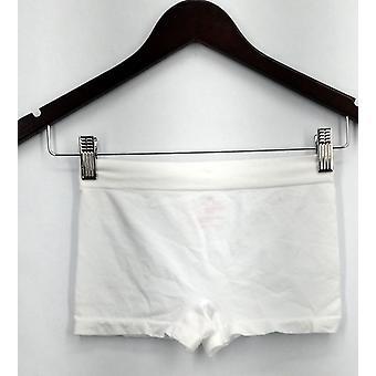 Breezies Panties Stretch Pull On Boyshorts Style White Womens