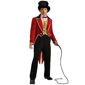 Ringmaster Circus Lion Tamer Tuxedo Deluxe Men Costume STD