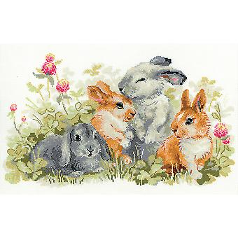 Funny Rabbits Counted Cross Stitch Kit-15.75