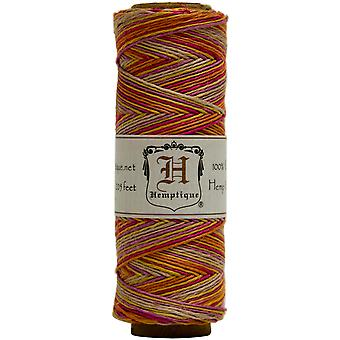 Hemp Cord Spool Variegated 10# 205 Feet Pkg Taffy Hsv10 9393