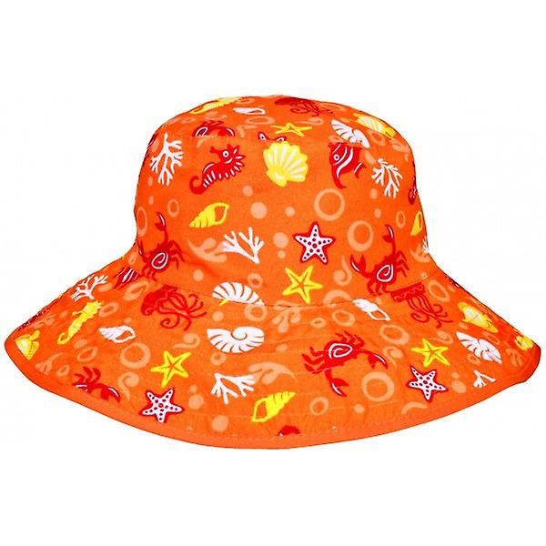Baby Banz Reversible Sunhat - Orange Sea Creatures