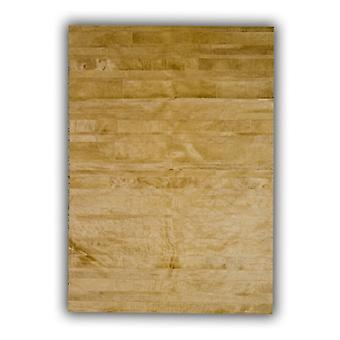 Rugs -Patchwork Leather Cowhide - ST10 Beige Stripes
