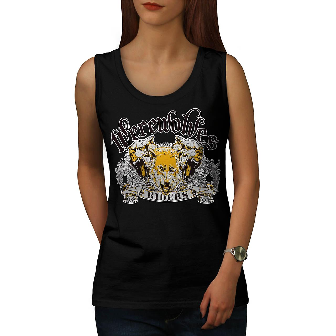 Lupi mannari Riders Biker donna Black Tank Top | Wellcoda