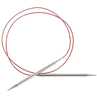 Red Lace Stainless Steel Circular Knitting Needles 40