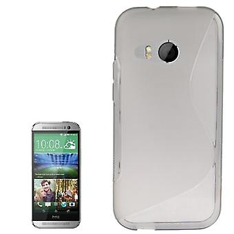 Mobile case TPU protective case for HTC one mini 2 grey