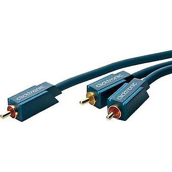 RCA Audio/phono Y cable [1x RCA plug (phono) - 2x RCA plug (phono)] 3 m Blue gold plated connectors clicktronic
