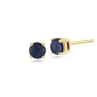 Gemondo Triplet Opal Round Stud Earrings In 9ct Yellow Gold 3.50mm Claw Set