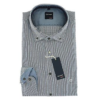 Olympus casual shirt S (37/38) long sleeve stripe marine