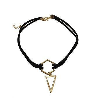 Minimalistisk uttalande choker halsband med triangel
