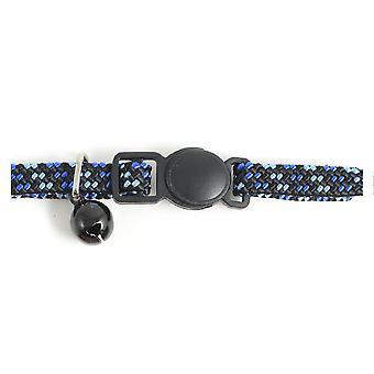 Gatito de hebilla de seguridad cuello elástico azul / negro (paquete de 3)