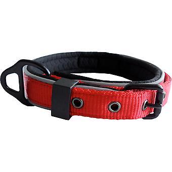 Dog & Co Nylon Collar Reflective Padded Red 19mm X25-35cm