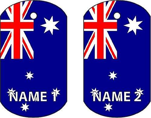Personalised Australia Dog Tag Car Air Freshener