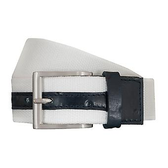 SAKLANI & FRIESE belts men's belts woven belt white 5428