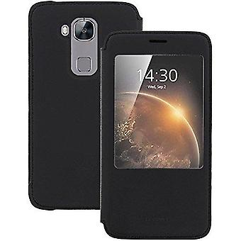 Huawei view cover cover sleep and wake function for Huawei G8 - black