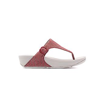 FitFlop Women's The Skinny Lizard Print Toe-Post Sandals - Spice
