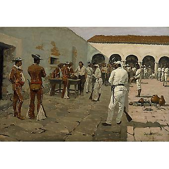 Frederic Remington - Mier Expedition Poster Print Giclee