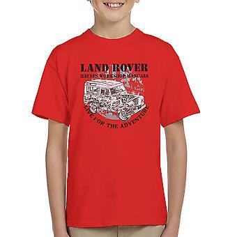 Haynes Besitzer Workshop Manual Land Rover Abenteuer Kinder T-Shirt schwarz