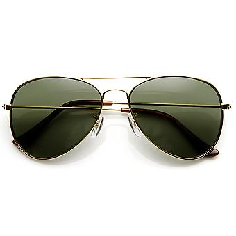 Opprinnelige klassiske metall Standard Aviator solbriller - nikkel Sinkbelagt ramme