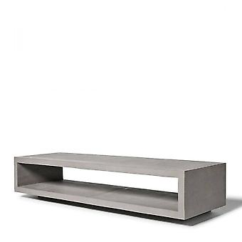 Lyon Beton Concrete Monobloc Tv Bench with Metal Legs