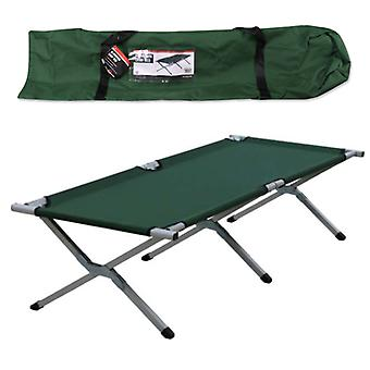 Milestone Folding Single Camp Bed Green