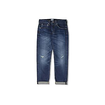 Edwin Jeans ED-55 Relaxed Tapered 63 Rainbow Selvage Jeans (Blue Contrast Dark Wash)