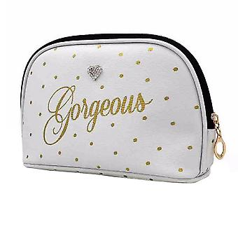 Splendida Dot stampa lavare Cosmetic Bag