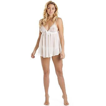 Camille Luxury Bridal Sheer Lace Ivory Babydoll