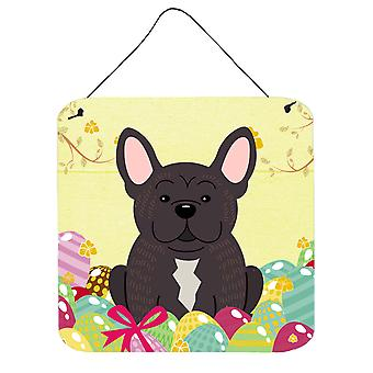 Easter Eggs French Bulldog Brindle Wall or Door Hanging Prints