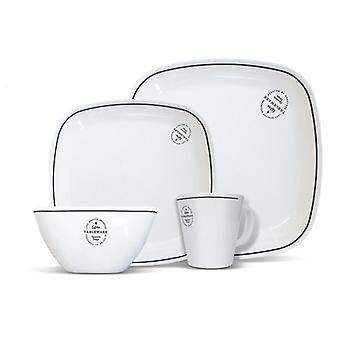 Signature Square Melamine Set (16 Piece)
