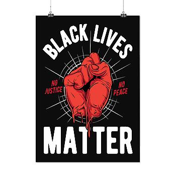 Matte or Glossy Poster with Black Lives Matter Slogan | Wellcoda | *d2392