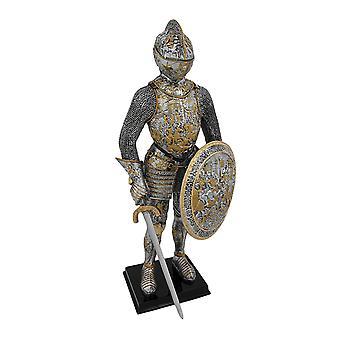 Средневековый французский рыцарь в доспехах статуя фигура доспехи
