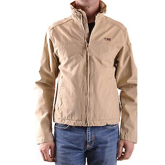 Napapijri men's MCBI219010O beige cotton jacket