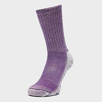 Purple Smartwool Women's Hike Light Crew Socks