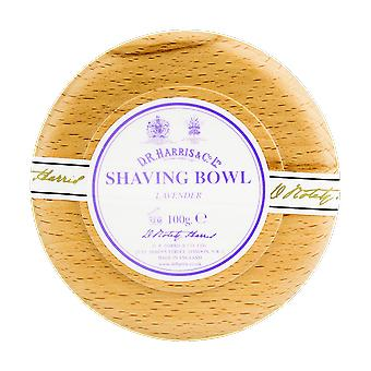 D R Harris Lavender Shaving Soap & Bowl Beech 100g