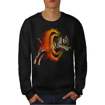 Tiger Portal Cool Men BlackSweatshirt | Wellcoda