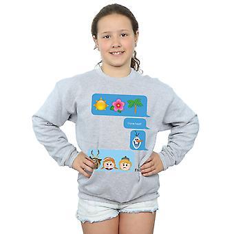 Filles de Disney j'ai congelé amour chaleur Emoji Sweatshirt