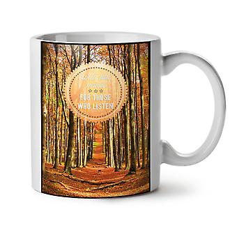 Music Listen Calm NEW White Tea Coffee Ceramic Mug 11 oz | Wellcoda