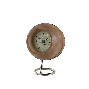 Light & Living Clock Ø14x20 Cm LEESTON Wood+nickel