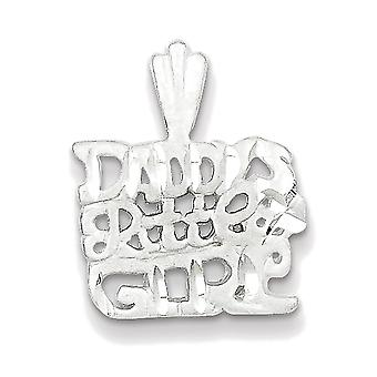 925 Sterling Silver Daddy'S Little Girl Charm Pendant - 19mm