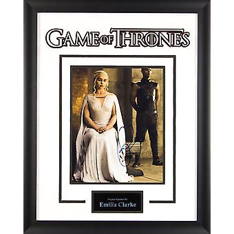 Game of Thrones - Signed Emilia Clarke Photo - Framed Artist Series