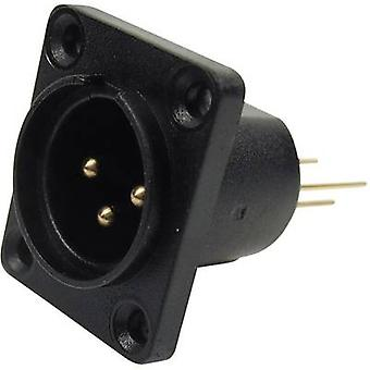 XLR connector Sleeve plug, straight pins Number of pins: 3 Black Cliff CP30061 1 pc(s)