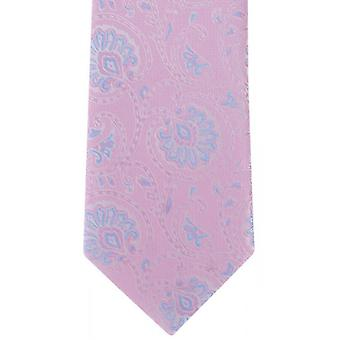 Michelsons of London Soft Paisley Polyester Tie - Pink