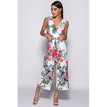 Floral Print Wrap vorderen Overall