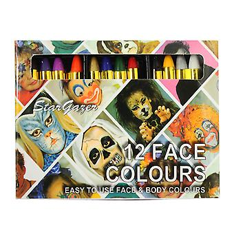 Face Or Body Paint 12 Colours