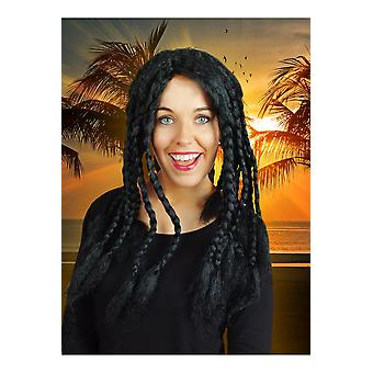 Peruker peruk med svart dreadlocks