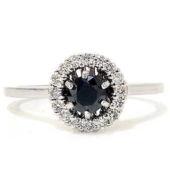 1 1/3ct Oval Diamond Engagement Ring VIntage Milgrain Solitaire 14K White Gold