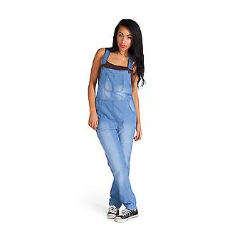 Lightweight Blue Denim Dungarees Summer Bib Overalls Playsuit Onesie