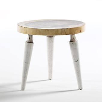 Wellindal Auxiliary Table Natural and White Wood (Furniture , Living Room , Side tables)
